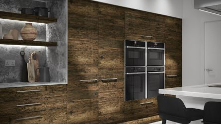 Alpina smoked larch kitchen