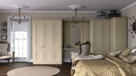 Bella Cambridge bedroom in white lead paintable vinyl finish