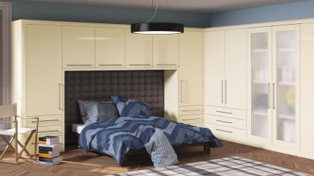 Bella Venice bedroom in High Gloss Cream