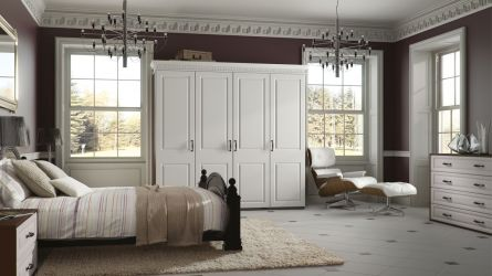 Bella York bedroom in Satin White