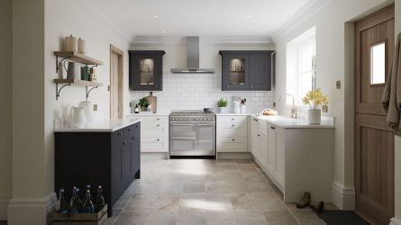 Belsay Dove Grey and Graphite Kitchen