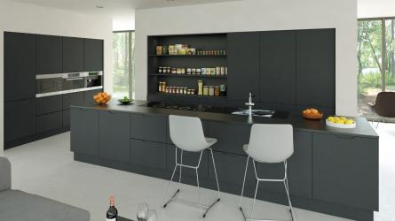 Integra matt graphite handleless kitchen