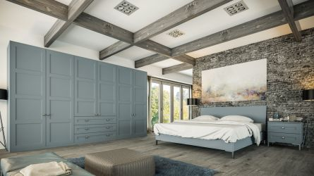 Bella Aldridge bedroom in Matt Denim finish