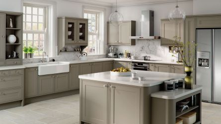 Tullymore style kitchen -  Matt Stone Grey