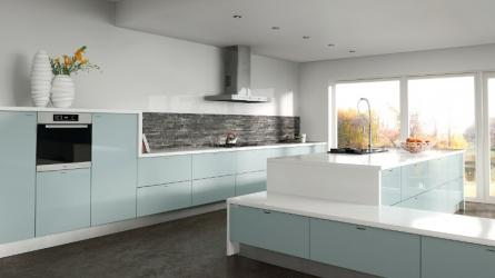 Zurfiz fitted kitchen in Metallic Blue