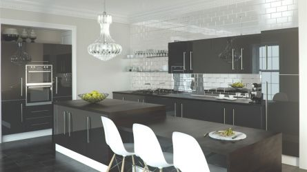 Zurfiz fitted kitchen in Metallic Anthracite