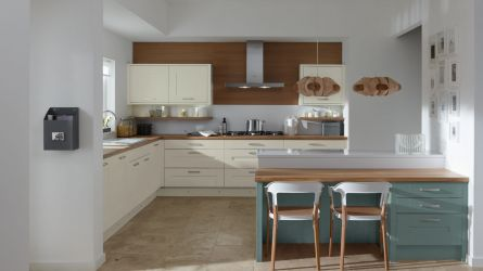 Milbourne Painted Kitchens - Morris Blue & Parchment White