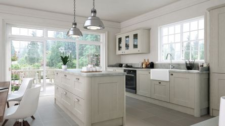 Cambridge Fitted Kitchens in Oakgrain Grey Finish