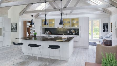 Venice style kitchen in Opengrain White