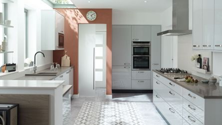 Porter Gloss Dove Grey Kitchen