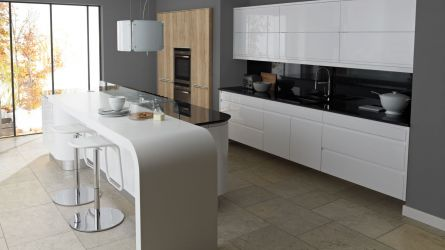 Remo White High Gloss Lacquer Kitchens