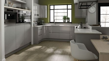 Remo Dove Grey High Gloss Lacquer Kitchens