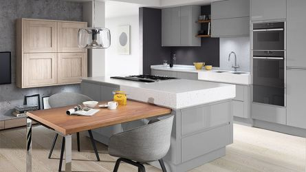 Remo Silver Grey High Gloss Lacquer Kitchens