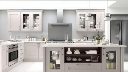 Rivington Bespoke Painted Kitchen in Calico and Dove Grey