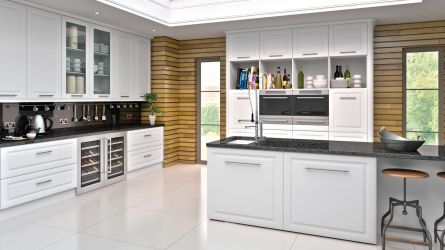 York style kitchen - Satin white