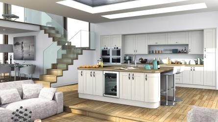 Wilton Woodgrain White & Paintable Kitchens