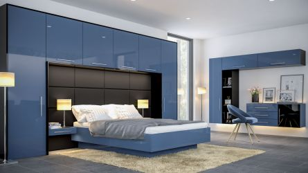 zurfiz ultragloss baltic blue and black bedrooms