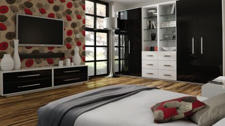 zurfiz ultragloss black and white bedrooms
