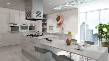Gravity fitted kitchen in Gloss White