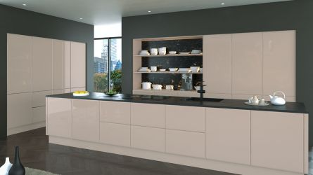 bella lincoln style kitchen - high gloss cashmere