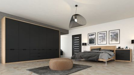 bella integra style bedroom with a matt graphite finish