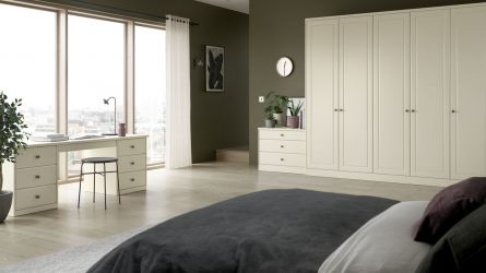 Bella Ashford bedroom in Oakgrain Cream