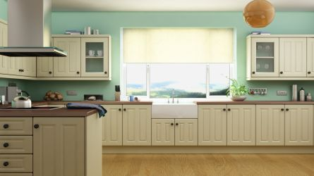 Benwick kitchen in an attractive pale cream finish.