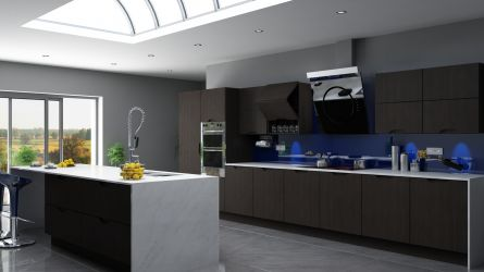 Metropole kitchen in painted oak graphite