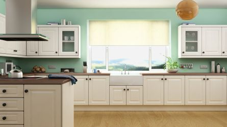 New Fenland kitchen shown in a Buttermilk finish.