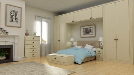 Oslo design bedroom in a Painted Oak Ivory finish