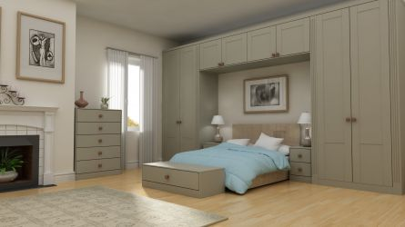 Shaker bedroom in a  Dakar finish.
