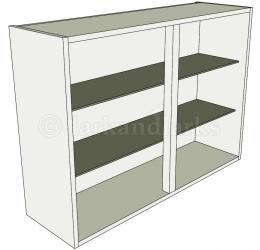 Glazed double kitchen wall unit tall 900mm high for Double kitchen wall unit