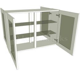 Peninsula glazed double kitchen wall unit tall for Double kitchen wall unit