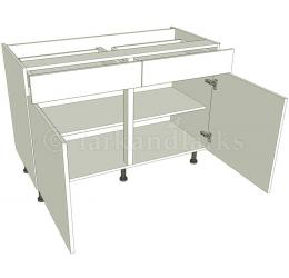 Drawerline kitchen base unit double for Service void kitchen units