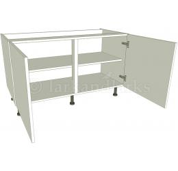 Low level kitchen base unit double for Kitchen base unit carcase only