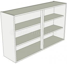 Tall 900mm high double kitchen wall unit for Double kitchen wall unit