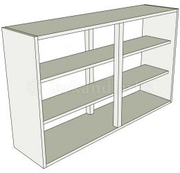 Peninsula kitchen wall unit medium double for Kitchen units without doors