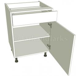 Drawerline kitchen base unit single for Service void kitchen units