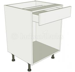 Open kitchen base unit drawerline for Service void kitchen units