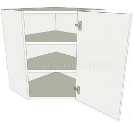 Diagonal corner kitchen wall unit tall for Tall corner kitchen unit