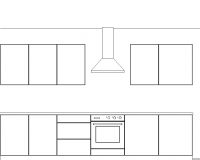 Example kitchen elevation drawing