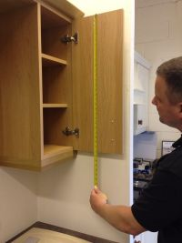 Measuring kitchen door height
