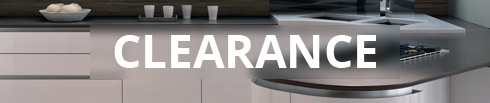 Clearance items of kitchen doors, units and accessories