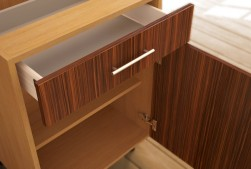 Open kitchen unit drawer