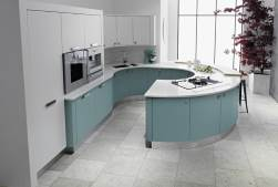 Small image of turquoise kitchen units