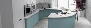 Turqoise kitchen units