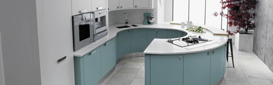 Turqoise kitchen units