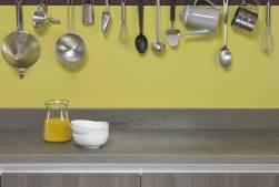 Kitchen worktop splashback