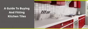 Kitchen worktop and tiled splashback