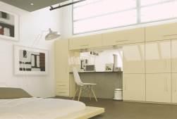 Beige bedroom units